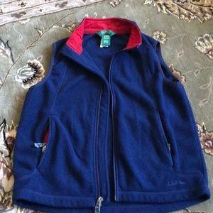 Llbean fleece vest size youth medium (10-12)